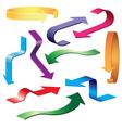set colorful arrows vector image