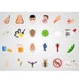 Set icons of allergy in a flat design vector image vector image