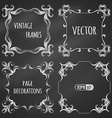 set of chalk vintage frames vector image vector image