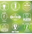 set vintage golf labels vector image vector image