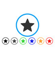 star rounded icon vector image vector image