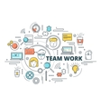 Team Work Linear Design vector image