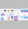 templates for website design minimal presentation vector image vector image