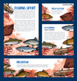 templates set of fishes for fishing sport vector image vector image