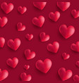 valentines day background with 3d style hearts vector image vector image