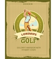 Vintage golf tournament poster vector image