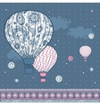 Vintage with air balloons vector image vector image