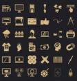 website icons set simple style vector image vector image