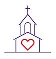 god loves you vector image