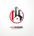 real estate business logo design symbol vector image