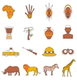 Safari Icons Set vector image