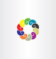 colorful abstract circle logo company icon vector image