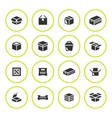 Set round icons of box vector image