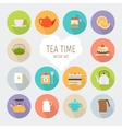 Tea flat icons vector image