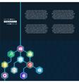 Abstract creative concept hexagon network vector image