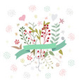 abstract floral spring bouquet on white vector image vector image