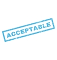 Acceptable Rubber Stamp vector image vector image