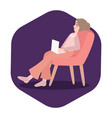 an exhausted businesswoman is sleeping on laptop vector image