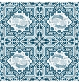 Arabic Blue Seamless Pattern with fish and lotus vector image vector image