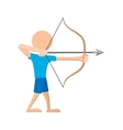 Archer cartoon icon vector image vector image