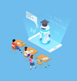 artificial intelligence in education isometric vector image vector image