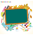 back to school background with copy space vector image vector image