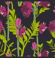 beautiful blooming seamless pattern vector image vector image