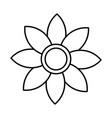 beautiful flower symbol vector image vector image