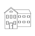 big house and many windows outline vector image vector image
