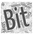 bit operating system Word Cloud Concept vector image vector image