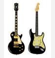 black guitar duo vector image vector image