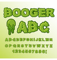 booger abc green slime letters snot font snivel vector image vector image
