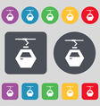 Cableway cabin icon sign A set of 12 colored vector image vector image