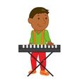 cartoon musician kid vector image