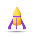 Cartoon rocket 3D vector image vector image