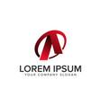 cative modern letter a logo design concept vector image vector image