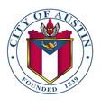city austin seal vector image vector image