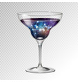 cocktail margarita glass with space background vector image