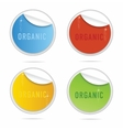 creative organic curl labels sign set vector image