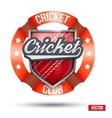 Cricket Sport Label vector image vector image
