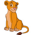 cute lionness cartoon vector image vector image