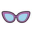 cute purple glasses cartoon vector image vector image