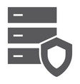 database protection glyph icon server security vector image vector image