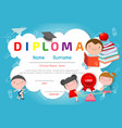 diploma certificate pattern design template vector image vector image