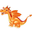 dragon sitting with a happy face vector image vector image