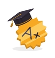 E-learning design education icon online concept vector image