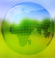 Earth with map on blurred landscape vector image