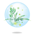Eco Green Friendly Environmental Button vector image vector image