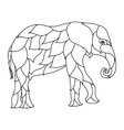 elephant Black and white doodle print with ethnic vector image vector image