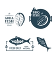 Fish labels vector image vector image